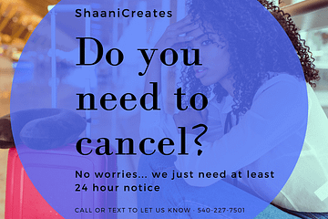 ShaaniCreates Cancellation Policy