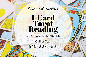 ShaaniCreates 1-Card Tarot Reading Rider Waite
