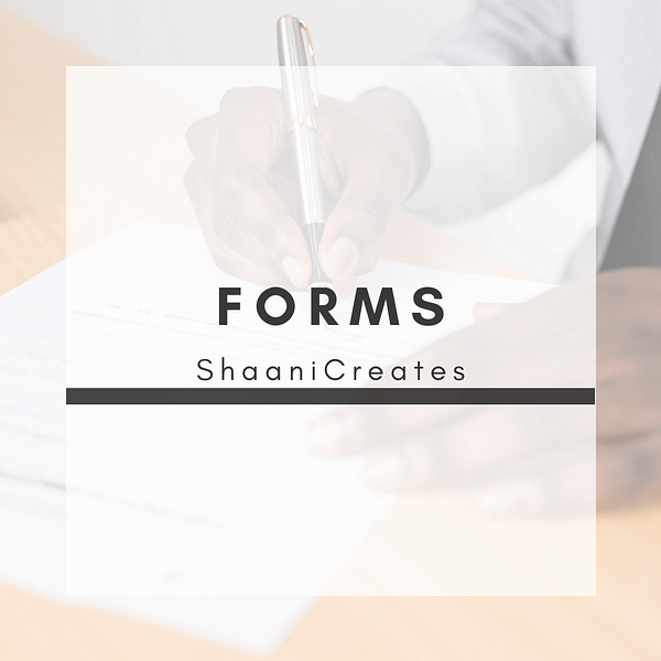 ShaaniCreates Forms