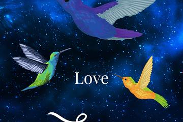 ShaaniCreates Meditation Increase Flow State Bird Intergalactic Spirit Animals