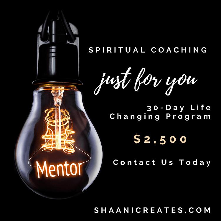 ShaaniCreates 30-Day Spiritual Coaching Just for You