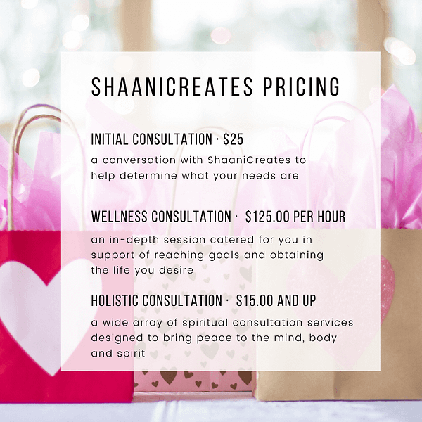 ShaaniCreates Pricing